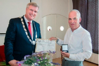 Deventer stadspenning voor Johan Kuiper